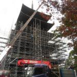 【2019年7月】東寺の五重塔が足場を組んで補修工事中!高さ日本一木造塔の工事はいつまで続く?